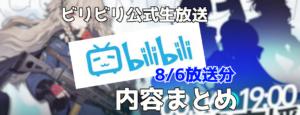 【少女前線】2021年8月6日 公式生放送まとめ
